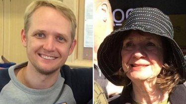 Greig Friday (left) and his mother Carol.