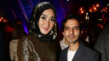 Fashion designer Dian Pelangi and Business of Fashion founder Imran Amed at VOICES seminar after-party.