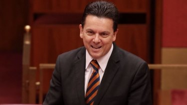 Nick Xenophon wants a crackdown on money laundering.