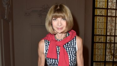 Anna Wintour attends the Jean Paul Gaultier show as part of Paris Fashion Week.