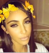 Snapchat's butterfly crown filter has many fans, including Kim Kardashian.