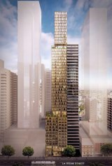Architects Hayball's design for the tower that will replace the former coach building.