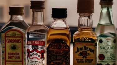 Two cabin staff were fired over after the random search, which uncovered single-serve bottles of spirits.