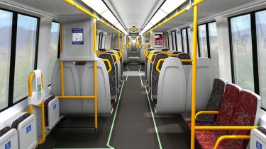 Inside the new NGR trains.