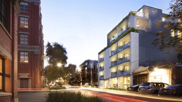 Tim Gurner rejigged apartment sizes in his Stanley Street development in Collingwood to meet the market.
