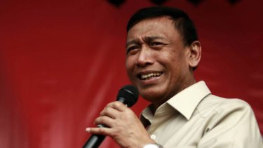 Wiranto is Indonesia's Co-ordinating Minister for Political, Legal and Security Affairs