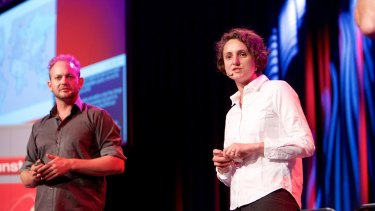 Start-up AbilityMate's co-founders Yohan du Plessis and Melissa Fuller.