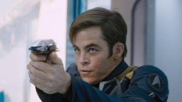 Chris Pine reprises his role as Captain Kirk in <i>Star Trek Beyond</i>.