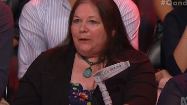 Tina Harris issued a challenge for politicians on Q&A.
