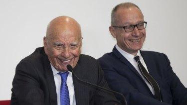 News Corp's Rupert Murdoch (left) and chief executive Robert Thomson.