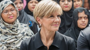 Foreign Affairs Minister Julie Bishop in New Delhi on Monday.