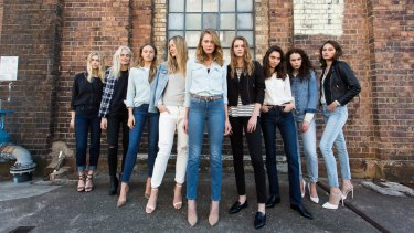 Models in Levi's jeans: The company's CEO has asked shoppers to leave their guns at home when they go clothes shopping.