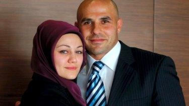 Reconciled: Hazem El Masri and Arwa.