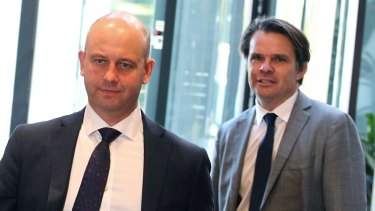 New deputy: NRL CEO Todd Greenberg with second-in-command Nick Weeks.