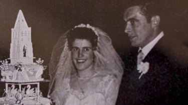 Edda and Bruno Comelli at their wedding ceremony.