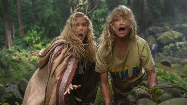Amy Schumer and Goldie Hawn in <i>Snatched</i>.
