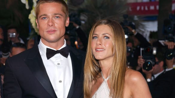 Brad PItt adn Jennifer Aniston in Cannes together as husband and wife in 2004.