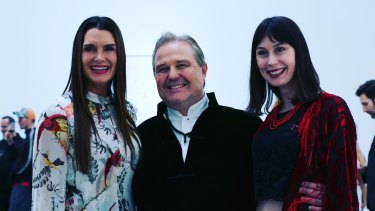 Brooke Shields with Tim Olsen and Emerald Gruin in New York.