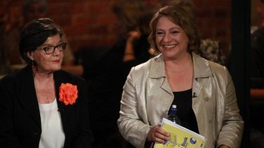 Cathy McGowan and Sophie Mirabella during a campaign event.