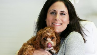 Petcloud founder Deb Morrison with her pet toy cavoodle Milly.