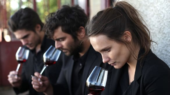 From left, Francois Civil, Pio Marmai and Ana Girardot in Back to Burgundy.
