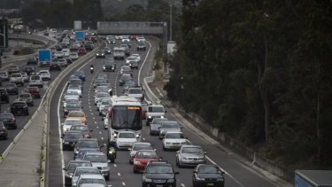 Heavy holiday traffic is causing delays across Sydney.