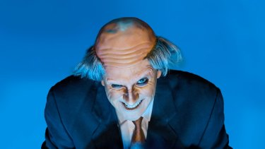 Mitchell Butel in <i>Mr Burns: A Post Electric Play</i>, nodding to <i>The Simpsons</i>, at Belvoir.