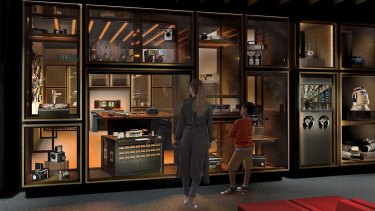 An artist's impression of an exhibit on the preservation and film digitisation at ACMI