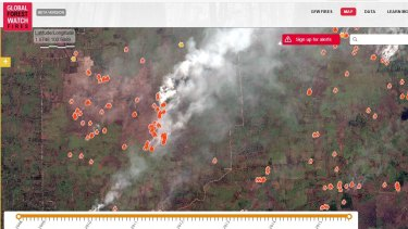 Tomnod crowdsourced active fires.