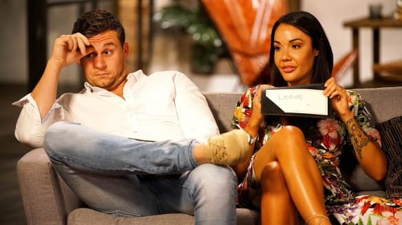 Ryan with Davina, who committed to stay after contriving to dump him for another man.