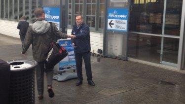 Tony Abbott on the wharf.