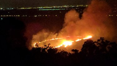 A fire in Upper Swan on Monday came within 300 metres of homes on Monday.