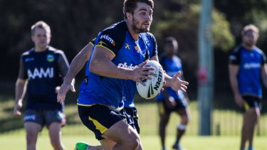 Eels half Kieran Foran back to work on the training field on Friday.