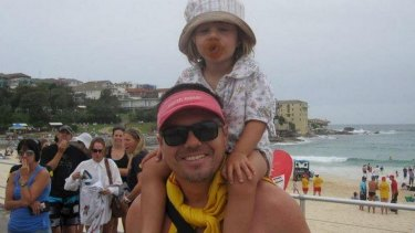 Life of a larrikin: Sam de Brito was happiest with daughter Anoushka.