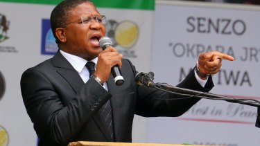 """Pep talk: South African sports minister Fikile Mbalula has reminded the Proteas """"you are not playing against cows....you are not playing against donkeys"""" ahead of the Cricket World Cup."""