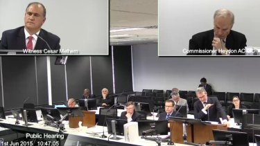 Labor MP Cesar Melhem faces questioning at the trade union royal commission.