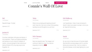 Connie Johnson Tribute Wall, https://loveforconnie.org.au/#leave-a-tribute