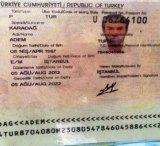 The suspect's passport.