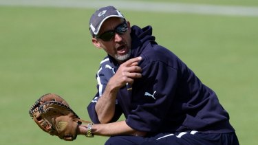 War of words: Jason Gillespie has labelled the Australian Ashes squad a 'Dad's Army' because of their  ages.