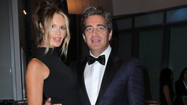 Elle Macpherson and husband Jeffrey Soffer in happier times in 2015.