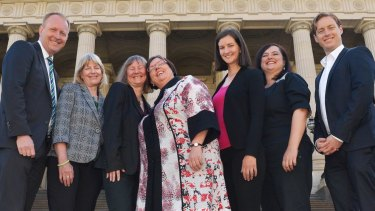 The Greens Victorian parliamentary team.