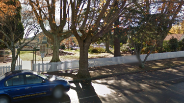 Three sisters were struck by lightning at Corbett Gardens in Bowral.