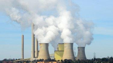 AGL's Loy Yang A power plant, Australia's largest carbon emissions plant.