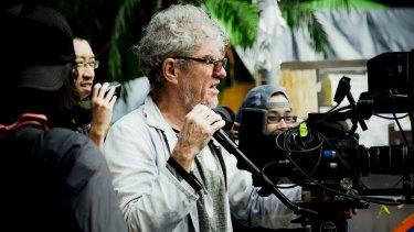 Christopher Doyle, Australian cinematographer and filmmaker, at work in Hong Kong.