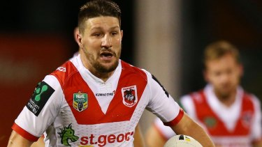 Gareth Widdop of the Dragons wants to bounce back from a disappointing 2016 season.