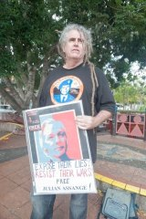 Activist Ciaron O'Reilly in West End.
