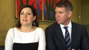 """You do feel like you are literally in this black, heavy, heavy cloud."" Kerryn Baird talking about her post-natal depression, pictured with husband Mike Baird."