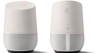 The Google Home smart speaker.