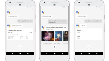 Google Assistant is baked into Pixel, to handle natural language requests from anywhere.
