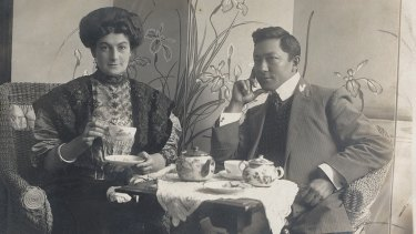 Rosetta Raphael and her lover, fortune teller Zeno the Magnificent (aka William Norman) in Melbourne c1905, shortly after they met.